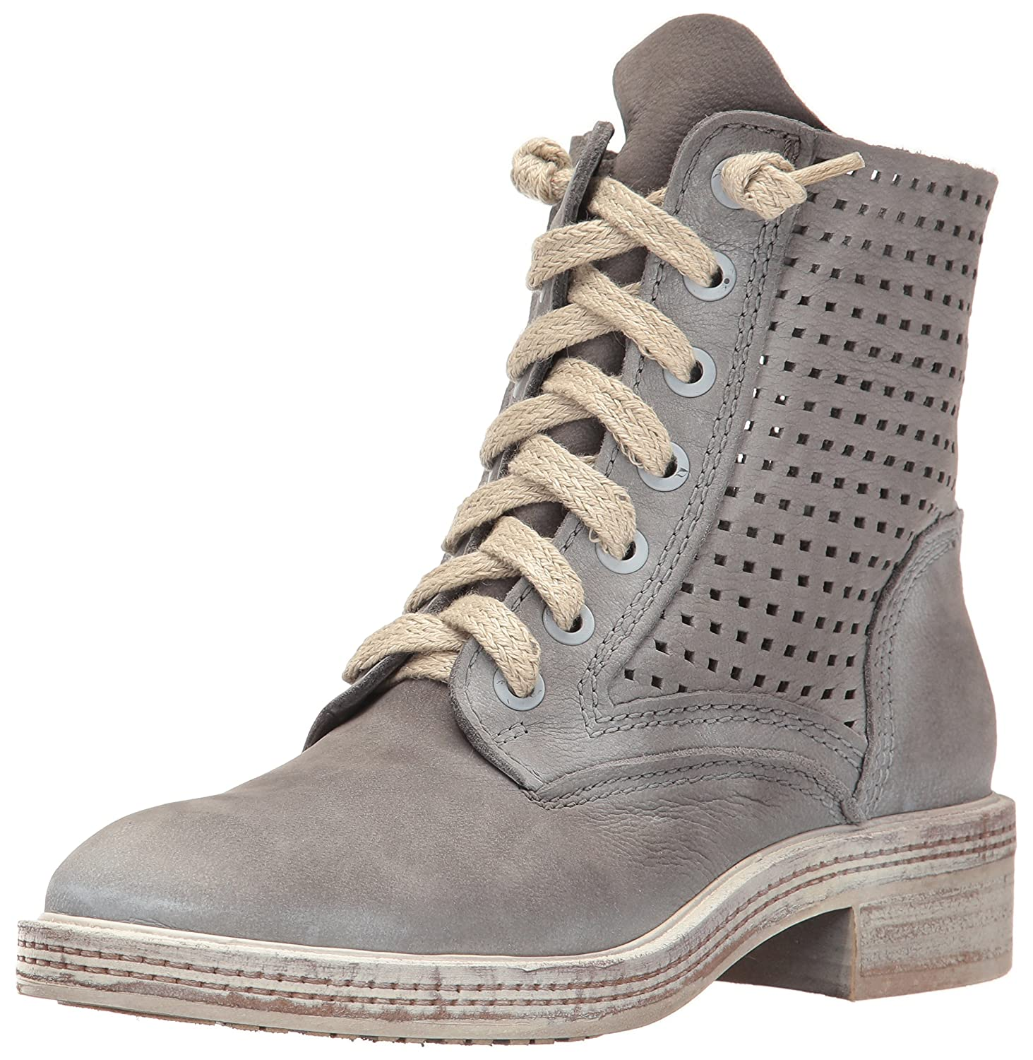Dolce Vita Women's Aldis Combat Boot B01N2I01F7 6 B(M) US|Smoke Perforated Nubuck