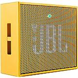 JBL GO Diffusore Bluetooth Portatile, Ricaricabile, Ingresso Aux-In, Vivavoce, Compatibilità Smartphone/Tablet e Dispositivo MP3, Giallo