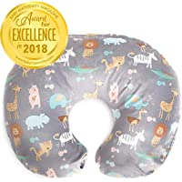Minky Nursing Pillow Cover | Jungle Pattern Slipcover | Best for Breastfeeding Moms | Soft Fabric Fits Snug On Infant Nursing Pillows to Aid Mothers While Breast Feeding | Great Baby Shower Gift