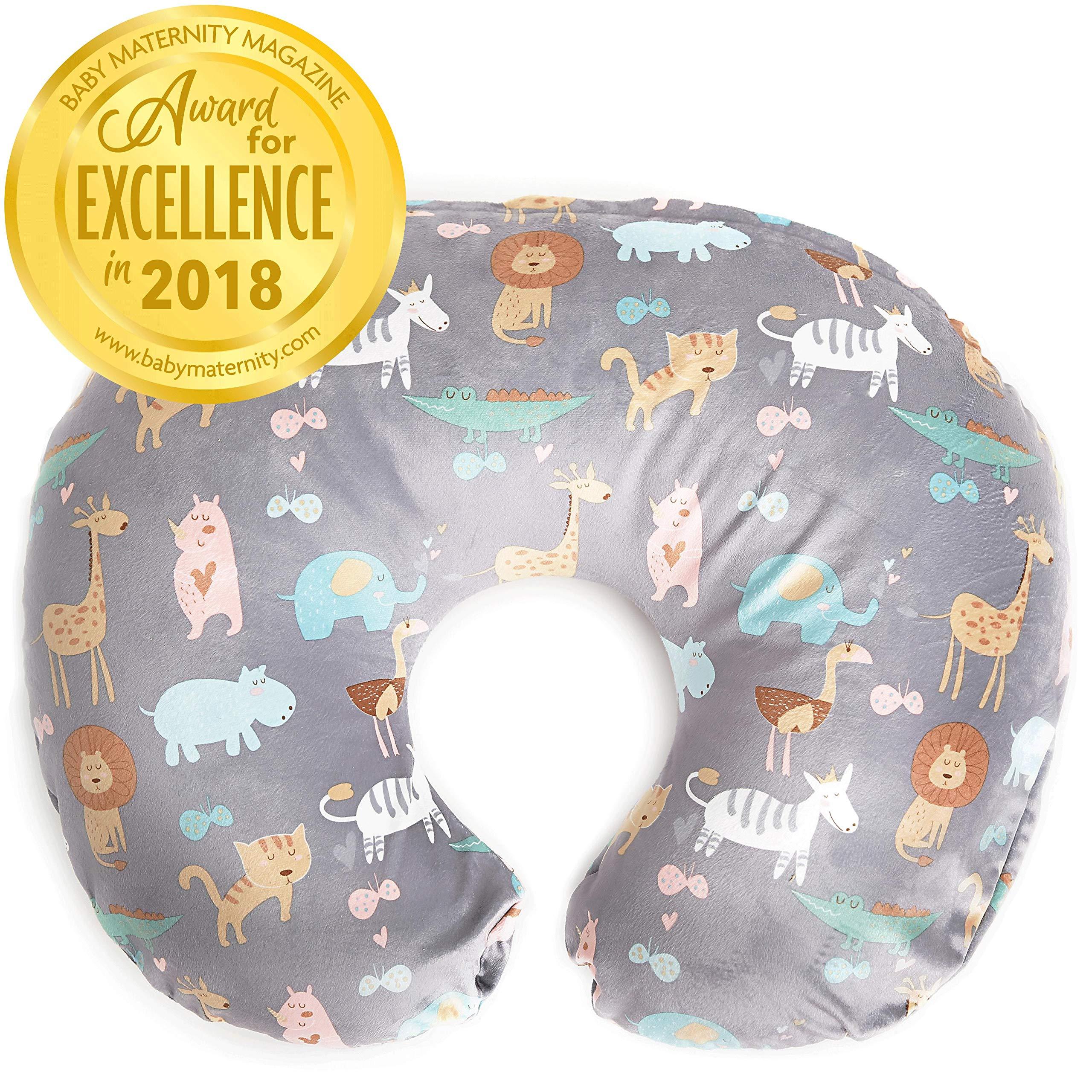Minky Nursing Pillow Cover | Jungle Pattern