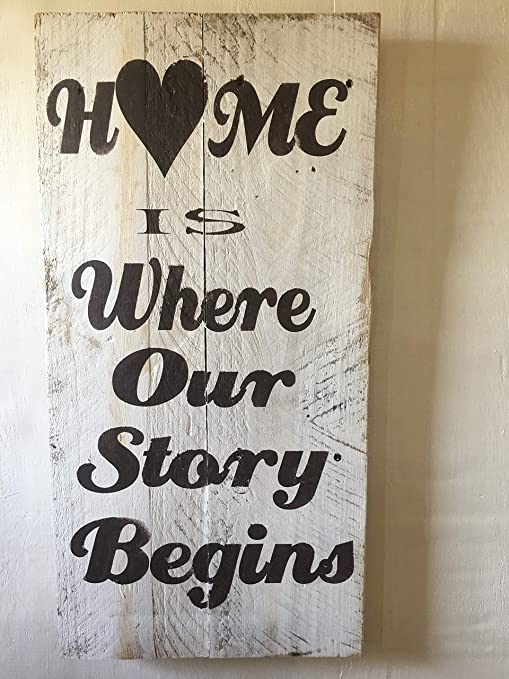 NIKKY HOME 36 x 6 Rustic Wooden Wall Plaque Sign with Quotes Home is My Happy Place