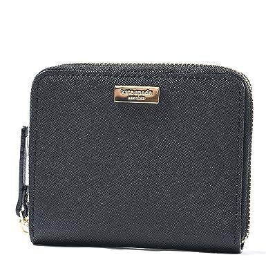 3a58814041167 Kate Spade Darci Laurel Way Leather Zip Around Medium Wallet (Black). Roll  over image to zoom in
