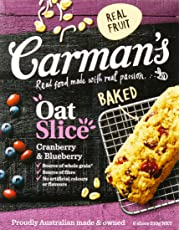 Carman's Oat Slice Cranberry & Blueberry, 6-Pack (210g)