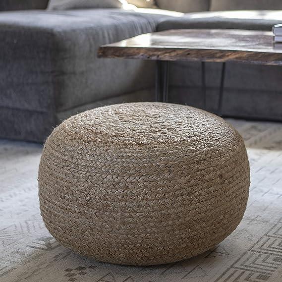 Amazon.com: Decoración terapia fr7466 asiento puff, Natural ...