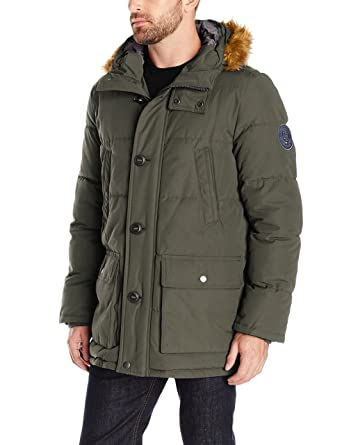 Mens snorkel padded parka jacket