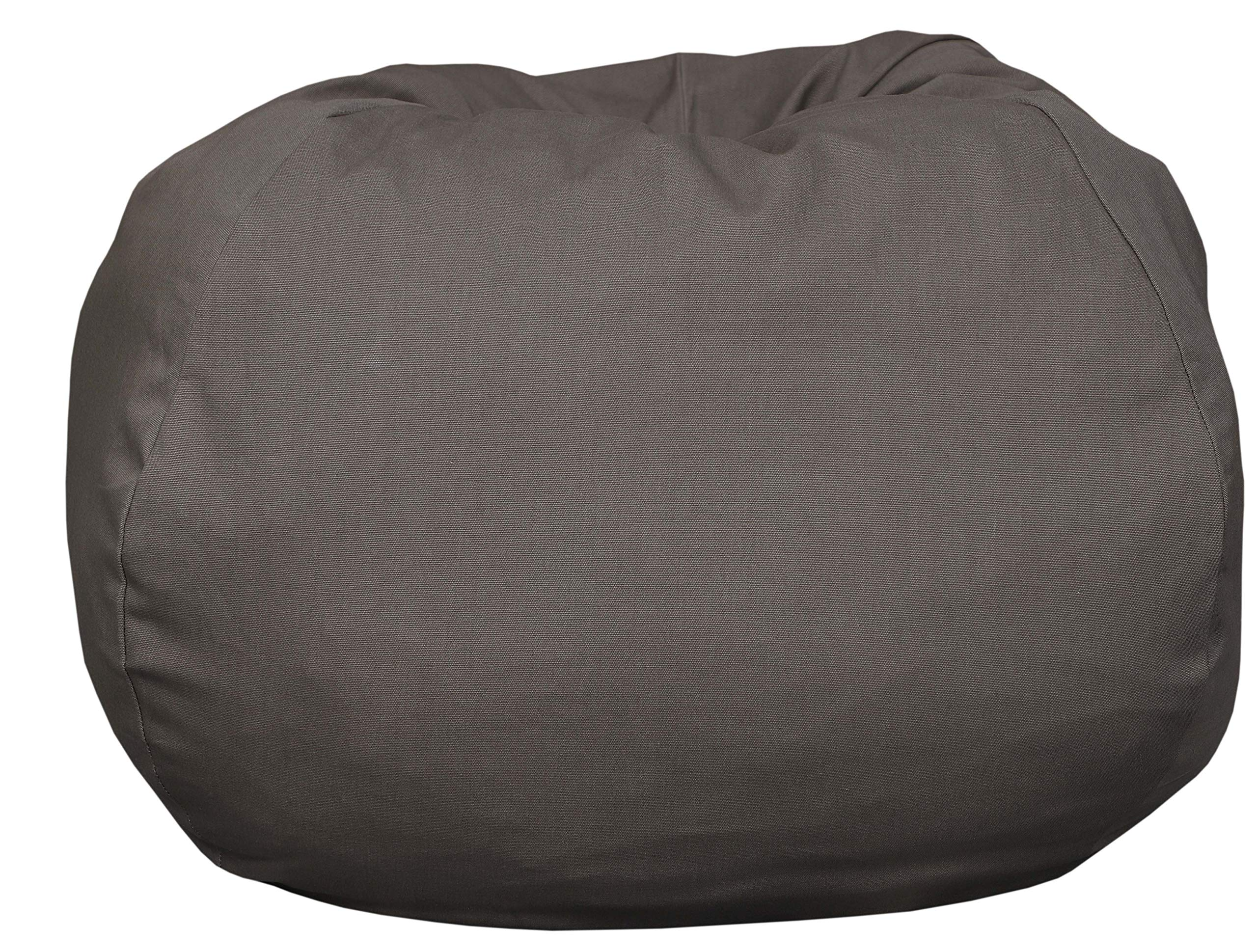 Extra Large Bean Bag Covers Only Stuffed Animal Storage Stuffed 40'' Brown Anti Tear Premium Cotton Canvas Chair for Toys Perfect Storage Solution for Pillows/Toys/Blankets/Stuffed Toys