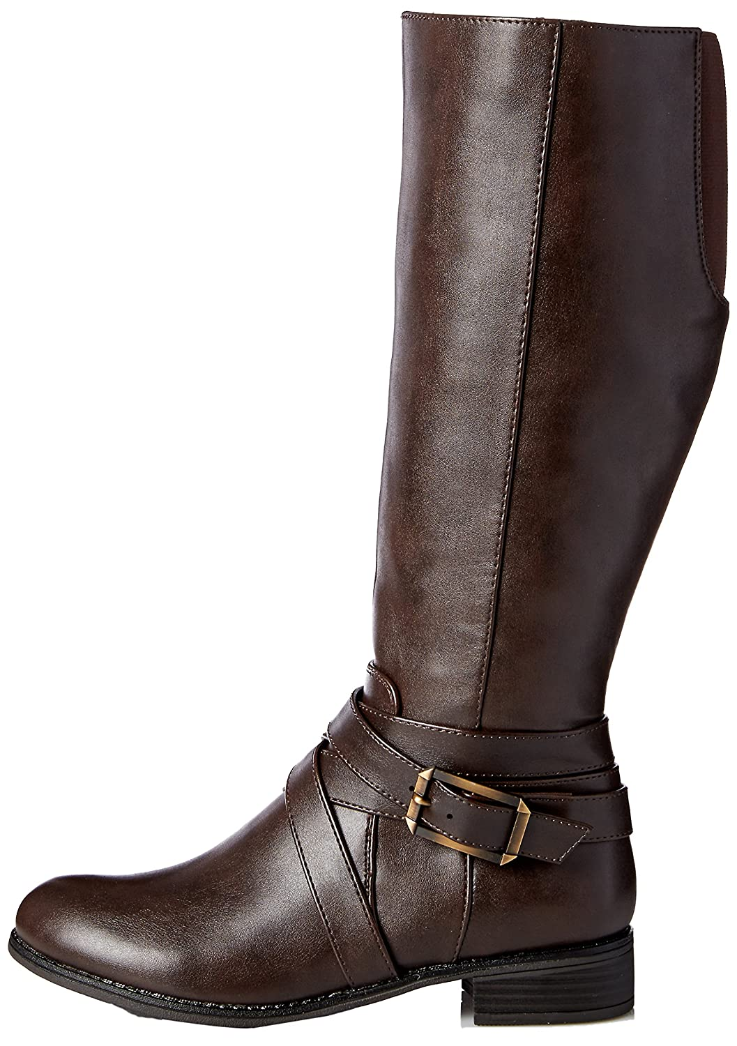 LifeStride Women's Subtlewc Equestrian Boot B075G215P9 10 W US|Dark Brown