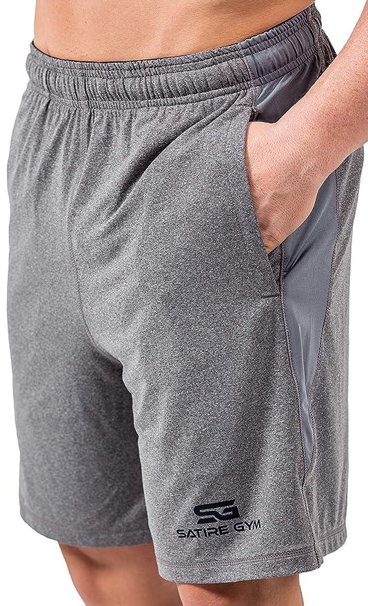 c80f089f7b Satire Gym - Uomo - Pantaloni Sportivi Corti - Fitness Loose Fit Shorts