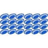 Set of 24 Blue Oval Fast Food / Deli Baskets, 9.25 by 5.67-Inch,Blue (24)