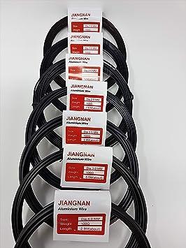 7 rollos de 100 G Hui-pinzas de alambre árbol de Bonsai - uno de cada tamaño: Amazon.es: Jardín