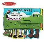 Melissa & Doug Libro suave de actividades - ¿Los pies de quién?, juguetes de desarrollo, texto fácil de leer, pies...