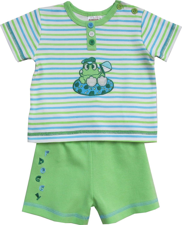 Schnizler Jungen Bekleidungsset 2 TLG. mit T-Shirt Froschli Gestreift und Shorts aus Sweat Playshoes GmbH 17135538