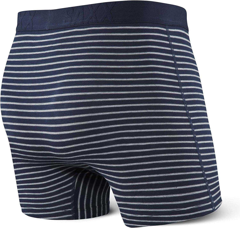 Undercover Men/'s Underwear Saxx Underwear Mens Boxer Briefs Boxer Briefs with Built-in Ballpark Pouch Support Underwear for Men,Navy Skipper Stripe,Small
