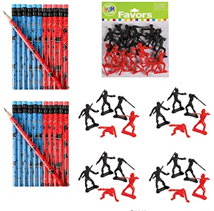 Amazon.com: Awesome Ninja Warrior Party Favors 60 piece - 2 ...