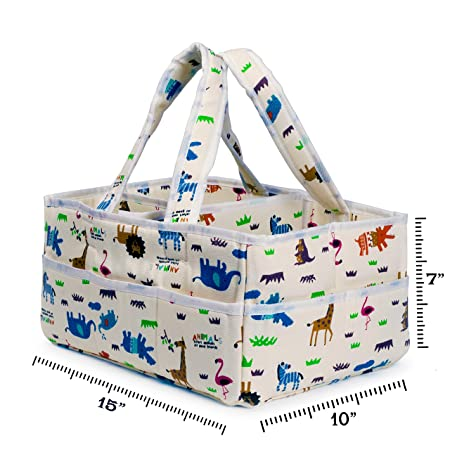 Amazon.com: ShiShu Creations Baby Diaper Caddy Organizer ...