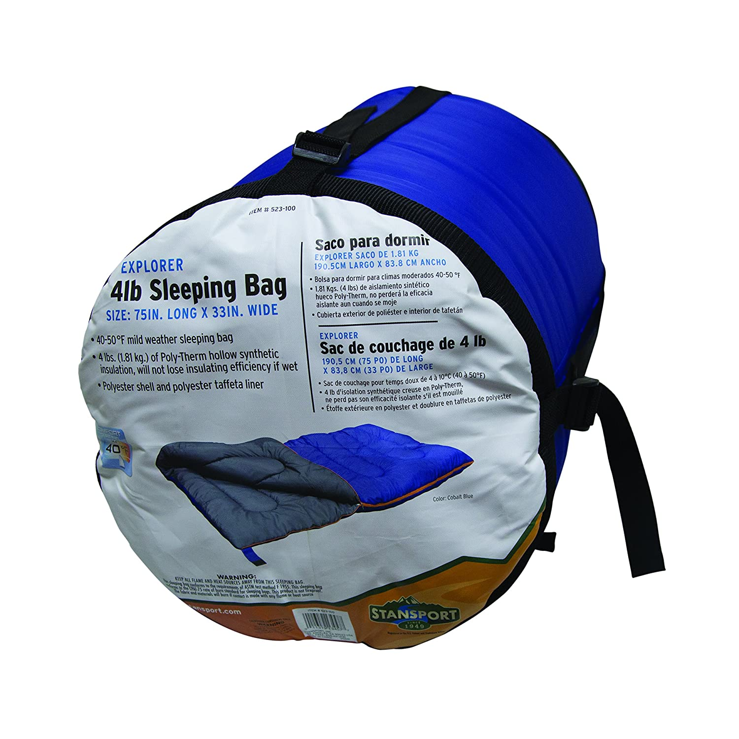 Amazon.com : Stansport Explorer 4 Lb. Sleeping Bag, 75