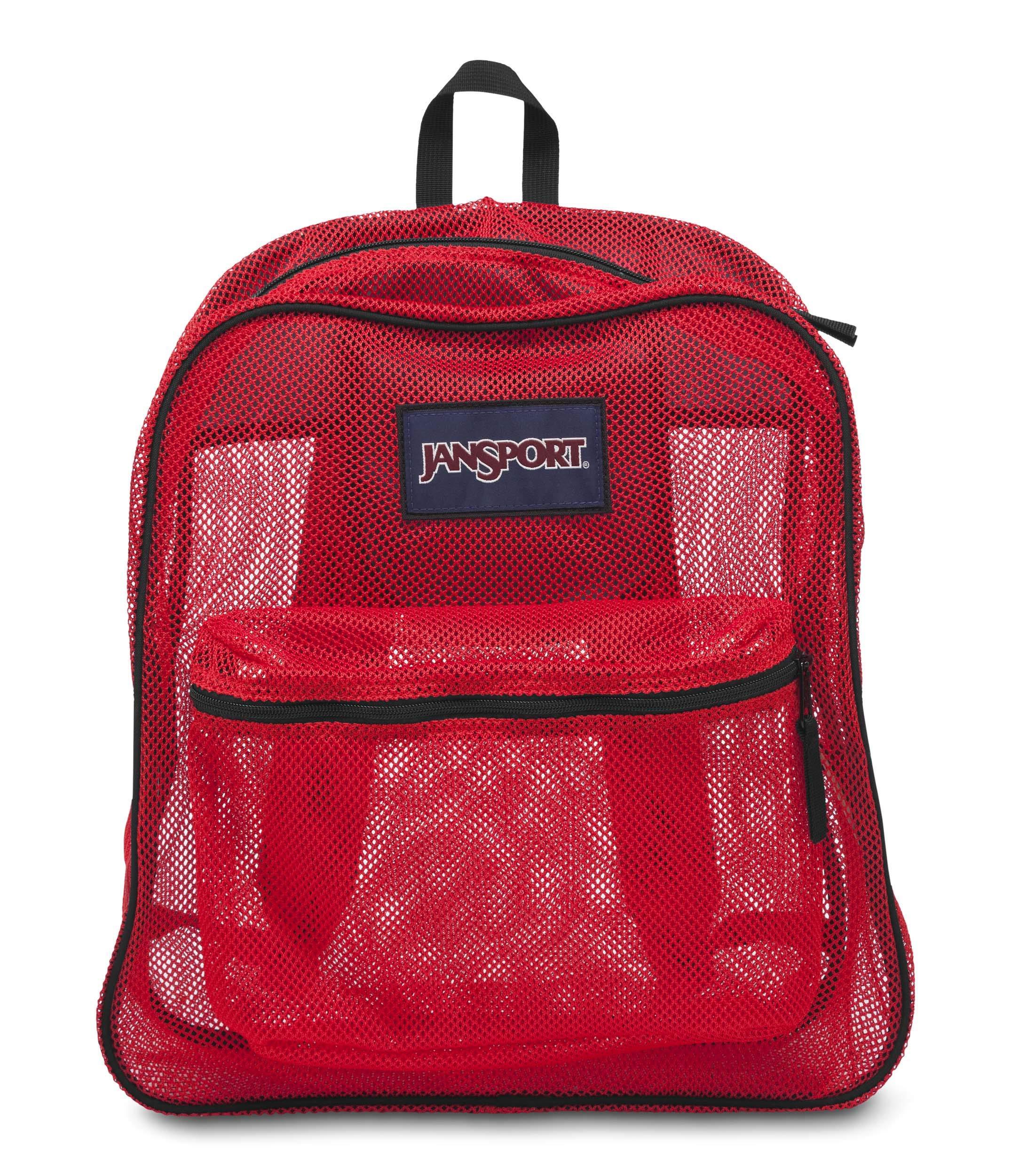 JanSport Mesh Pack Backpack High Risk Red