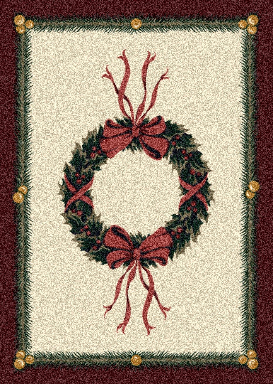 Winter Holiday Wreath Rug from Wayfair!