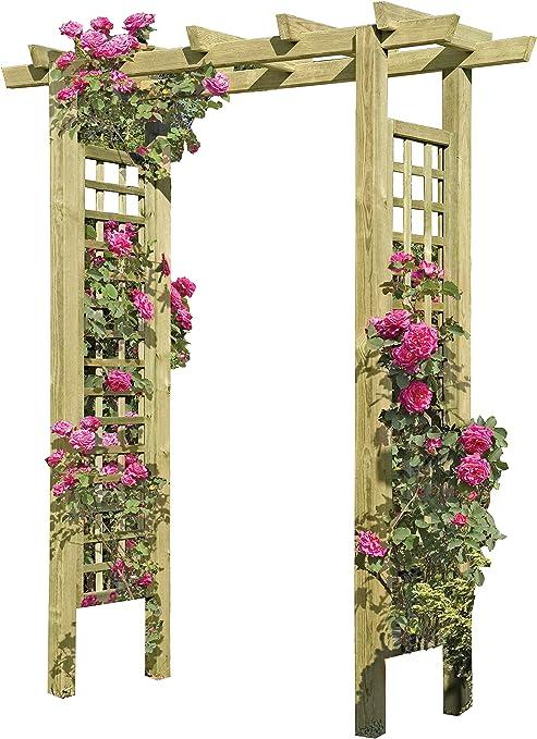Gartenpirat Entrada Pergola 160 x 62 x 210 cm Pergola de Madera con Rank Elementos