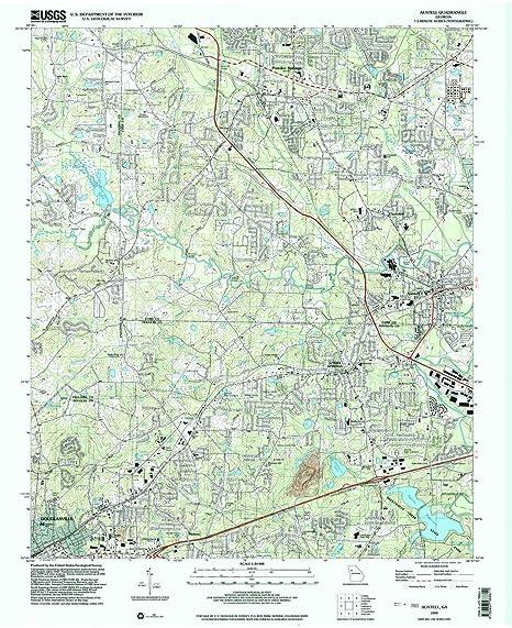 Amazon Com Yellowmaps Austell Ga Topo Map 1 24000 Scale 7 5 X
