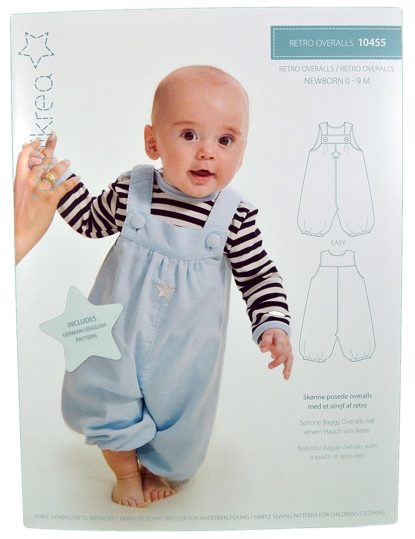 Schnittmuster Retro Overall für Neugeborene & Babys / Gr. 50-74cm ...
