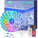 Bluetooth LED Strip Lights 20m - Music Sync LED Light Strip Controlled by Smart light for Phone APP -600 beads led…