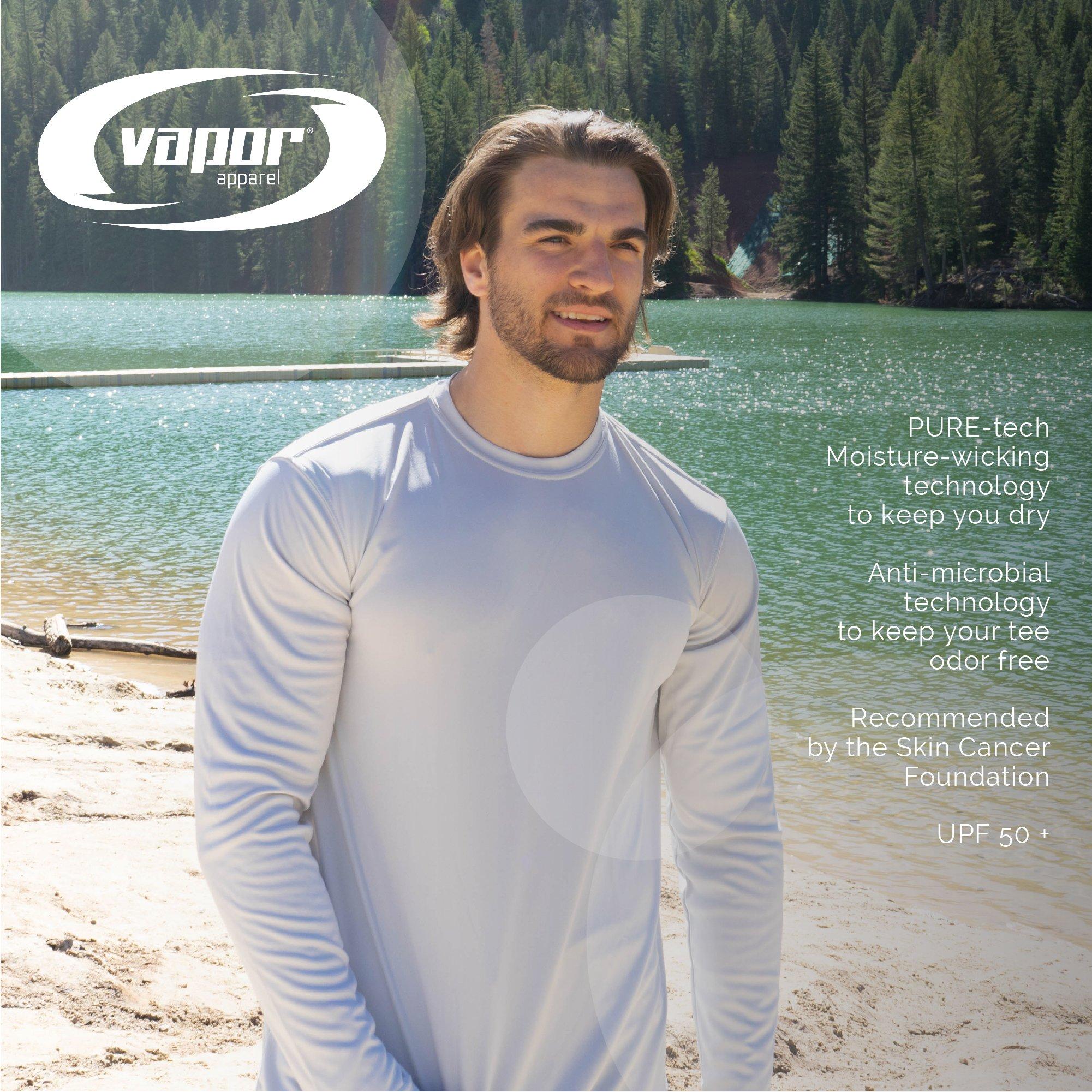 Vapor Apparel Men's UPF 50+ UV Sun Protection Performance Long Sleeve T-Shirt X-Large Pearl Grey by Vapor Apparel (Image #6)