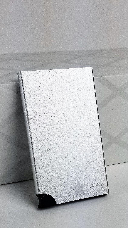 Black Metal Card Wallet, RFID Blocking Aluminum Credit Card Holder SAWM