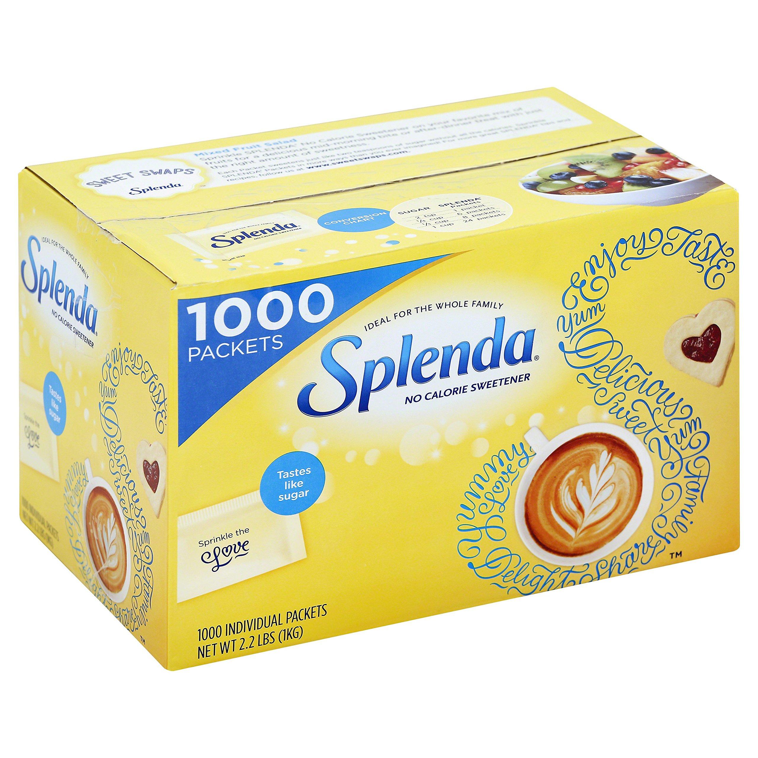 Splenda No Calorie Sweetener Value Pack, 1000 Count