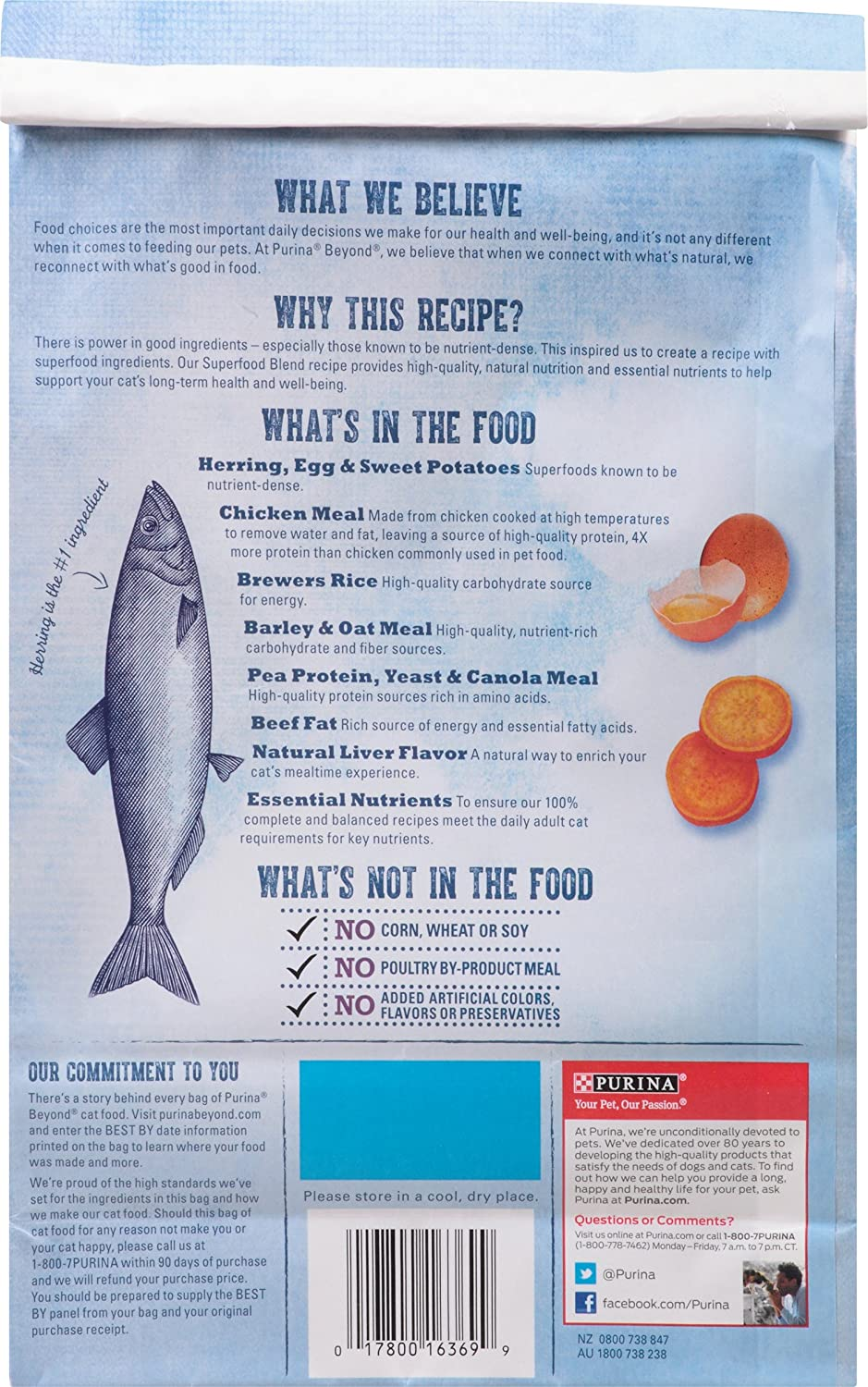 Amazon purina beyond natural dry cat food superfood blend amazon purina beyond natural dry cat food superfood blend herring egg and sweet potato recipe 3 pound bag pack of 1 pet supplies forumfinder Choice Image