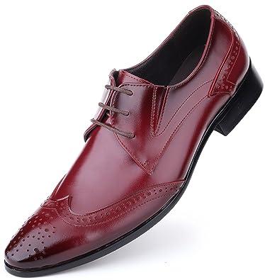 Mens Wedding Shoes.Mens Oxford Shoes Formal Leather Mens Dress Shoes Men Wedding Shoes In A Bag Cabernet