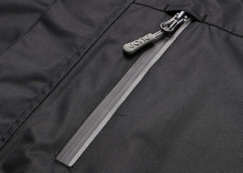 Brand: Eono Essentials Veste imperm/éable semi-l/ég/ère et respirante pour homme taille/M Noir