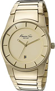 Kenneth Cole New York Mens 10027726 Slim Analog Display Japanese Quartz Gold Watch