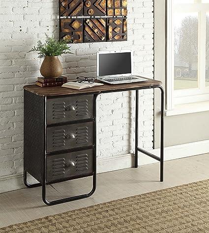 Merveilleux 4D Concepts Locker Computer Desk In Gray