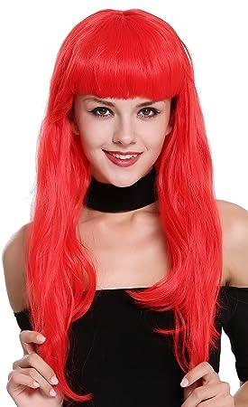 WIG ME UP ® - 90649-EZA13 Peluca Mujer Carnaval Halloween Rojo Años 50 Burlesque