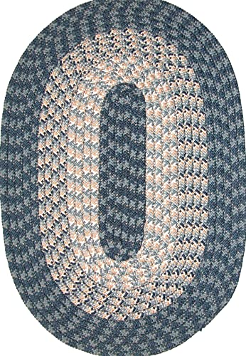 Constitution Rugs Hometown 6 Round Braided Rug in Blueberry