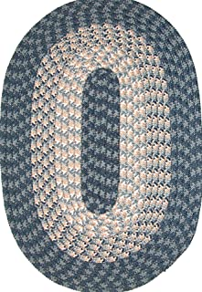 "product image for Hometown 20"" x 30"" Braided Rug in Mountain Blueberry"