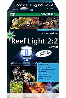 Led Aquarium Beleuchtung Meerwer | Dennerle 5641 Nano Marinus Blue White 2 2 24 Watt Amazon De Haustier