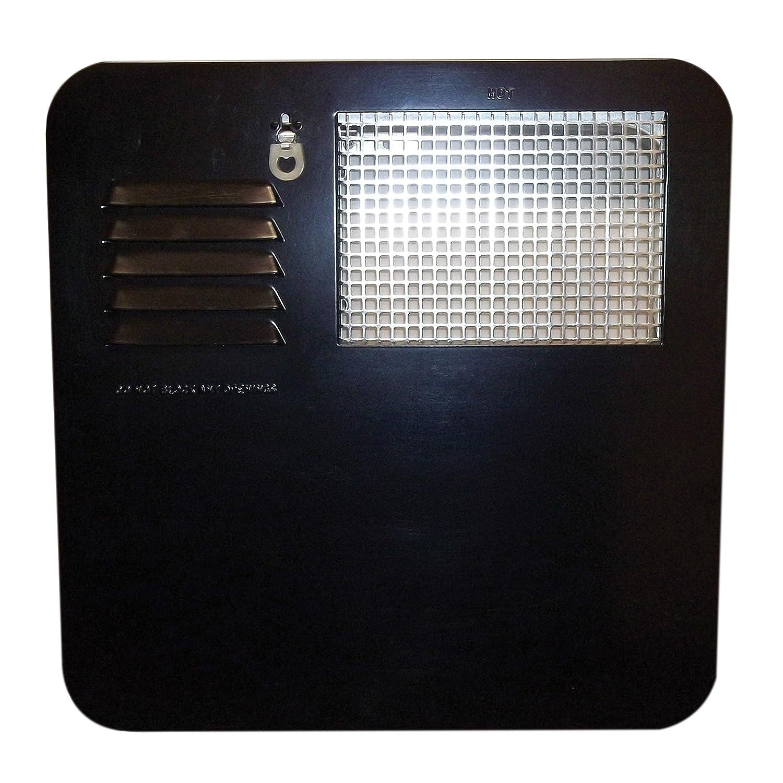 Suburban 6261AEB Radius Water Heater Access Door 4 /& 6 Gallon Black