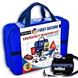 Car Emergency Kit First Aid Kit – Premium, Heavy Duty Car Roadside Emergency Kit – Jumper Cables, Portable Air Compressor, To