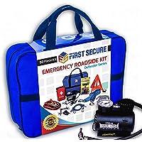 $47 » Car Emergency Kit First Aid Kit – Premium, Heavy Duty Car Roadside Emergency Kit – Jumper…