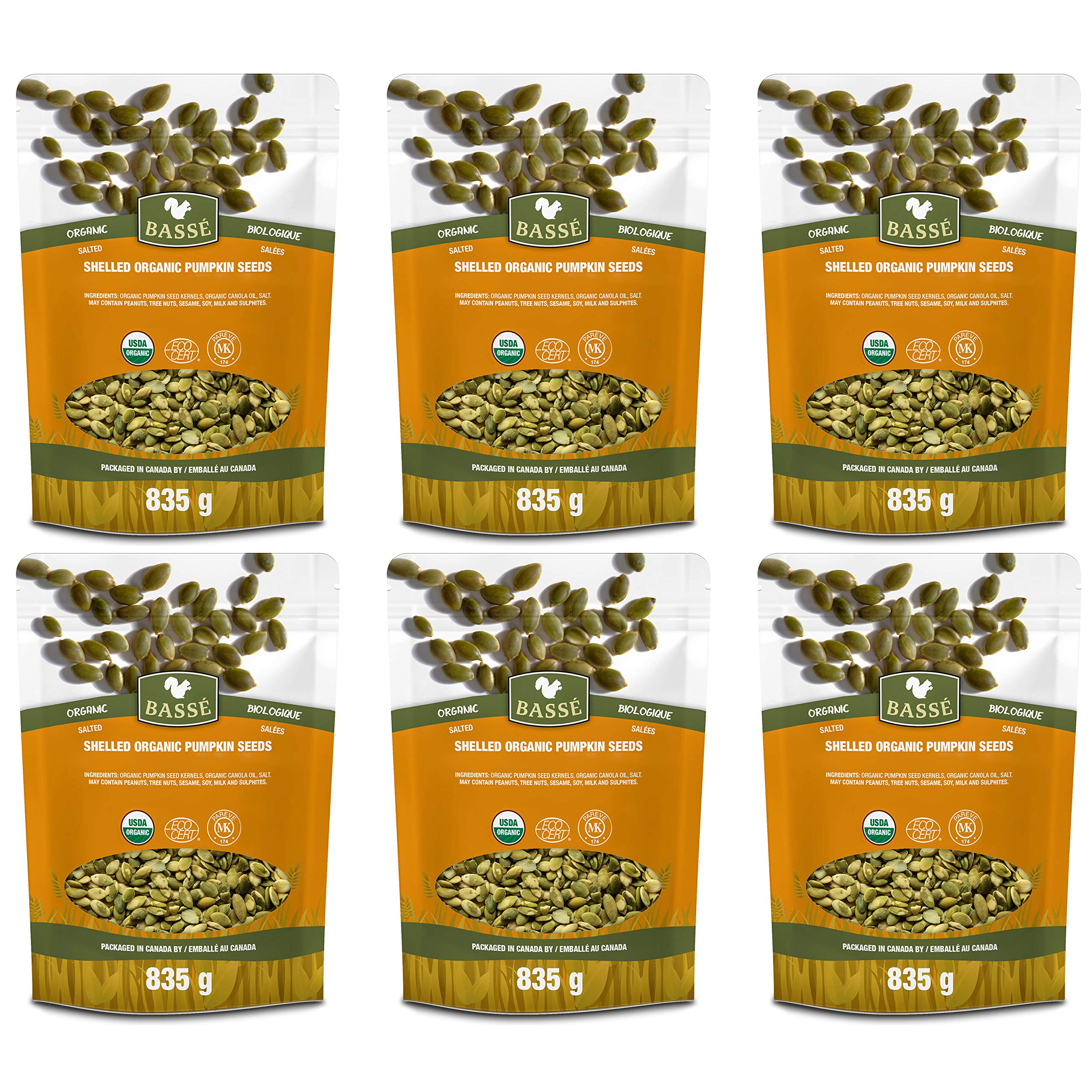 Basse Organic Pumpkin Seeds Kernels Nutritious, Salted, Wholesome, Superfood Snack 11 lb