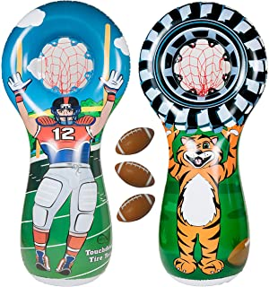 ImpiriLux Inflatable Football Toss Sports Game with 3 Mini Footballs  Included  99dd7a1bb