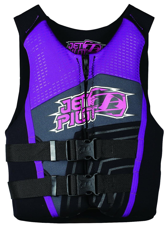 JETPILOT(ジェットパイロット) ライフジャケット(ウェイクボード ジェットスキー SUP用) 子供用PISTOL KIDS F/E NEO VEST パープル Teen JA3211 パープル Teen JA3211 パープル Teen<br />