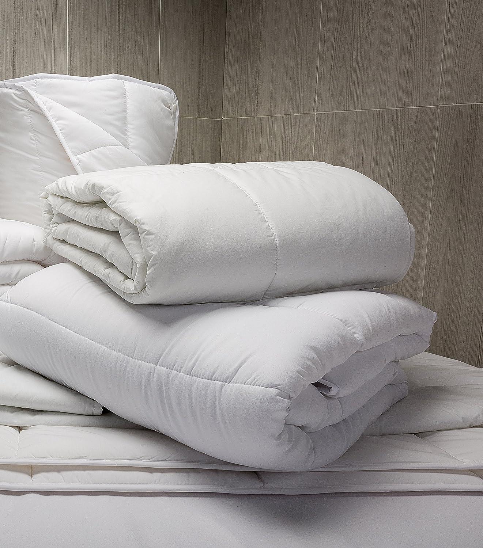 Pikolin Home - Relleno nórdico, edredón hipoalergénico de fibra antiácaros, otoño-invierno, 300 gr/m², cama 200 - 240 x 280 cm (Todas las medidas): ...