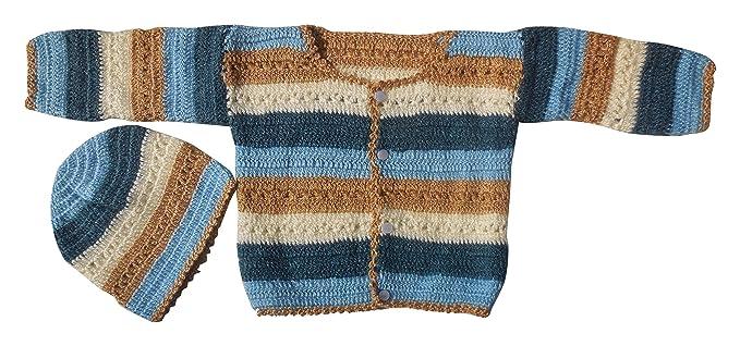Sr Handicrafts Boys Wool Sweater With Cap Sh057 2 3 Year Multi