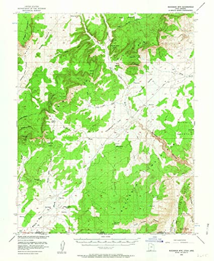 Amazon.com: Utah Maps | 1954 Buckskin MTN, UT USGS ...