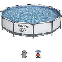 Bestway 56416 - Piscina Desmontable Tubular Steel Pro Max 366x76 cm Depuradora de…