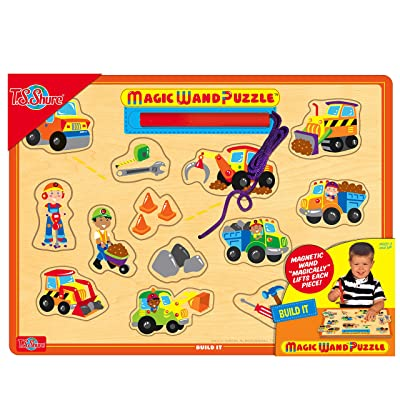 T.S. Shure - Build It Wooden Magnetic Magic Wand Puzzle: Toys & Games