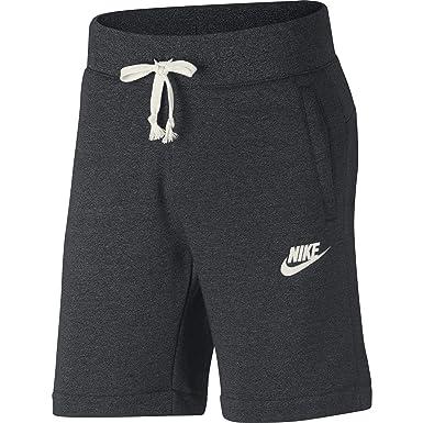 d4d375e17167e Nike Mens Heritage Fleece Shorts Dark Grey Heather/Sail 928451-011 Size  X-Large at Amazon Men's Clothing store: